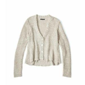 Eileen Fisher Hairy Knit Cardigan in Beige